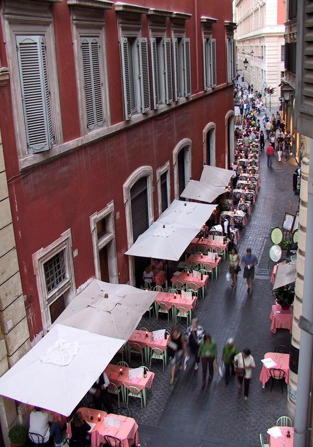 750 1905 roma hotel room view down via di pietra to - Corso di design roma ...